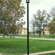 New Security Lighting for Women's Dormitory